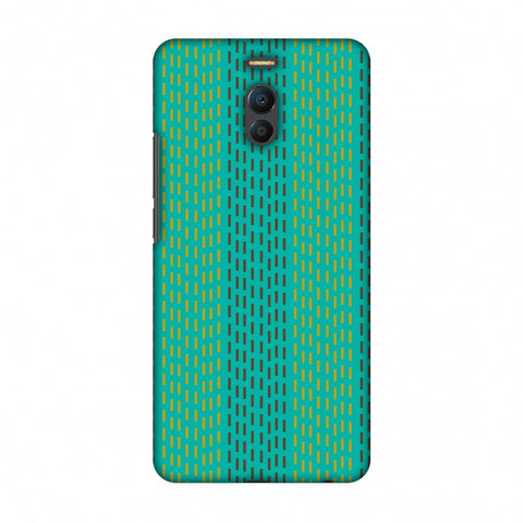 Kantha Geometric - Teal Slim Hard Shell Case For Meizu Note 6