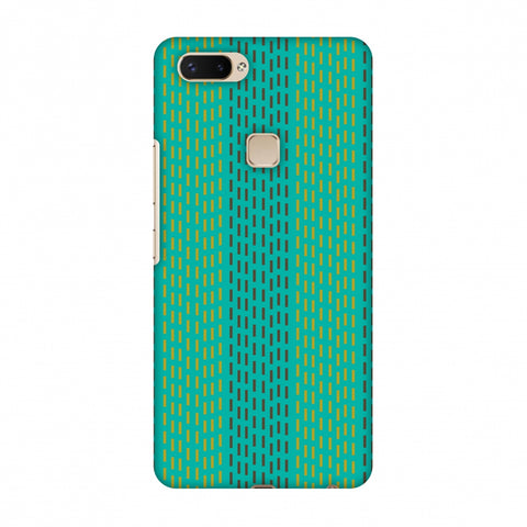 Kantha Geometric - Teal Slim Hard Shell Case For Vivo X20 Plus
