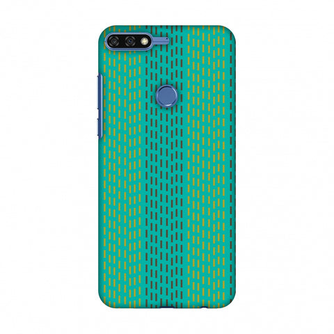 Kantha Geometric - Teal Slim Hard Shell Case For Huawei Honor 7C