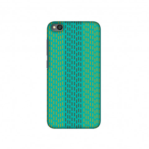Kantha geometric- Teal Slim Hard Shell Case For Redmi Go