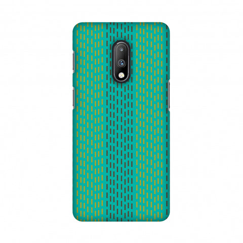 Kantha geometric- Teal Slim Hard Shell Case For OnePlus 7