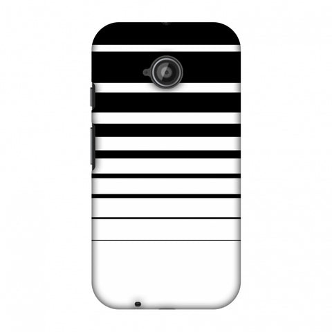 Descending Stripes - Black And White Slim Hard Shell Case For Motorola Moto E 2nd Gen