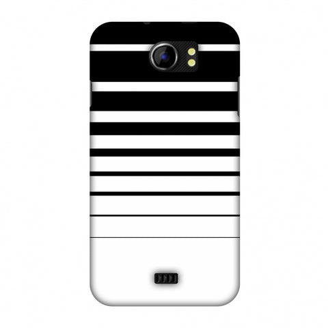 Descending Stripes - Black And White Slim Hard Shell Case For Micromax Canvas 2 A110