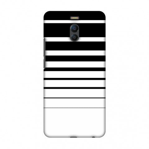 Descending Stripes - Black And White Slim Hard Shell Case For Meizu Note 6