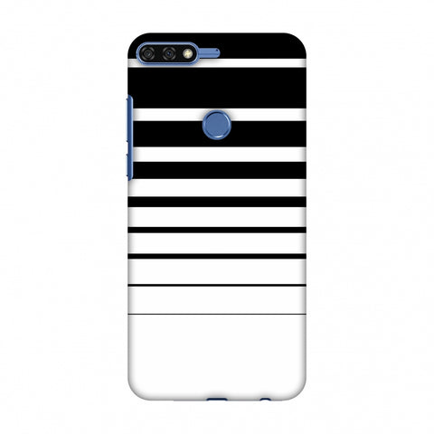 Descending Stripes - Black And White Slim Hard Shell Case For Huawei Honor 7C