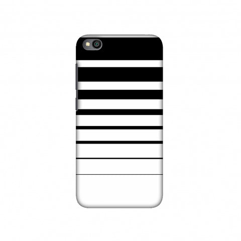 Descending stripes- Black and white Slim Hard Shell Case For Redmi Go