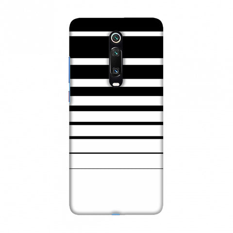 Descending stripes- Black and white Slim Hard Shell Case For Redmi K20/K20 Pro