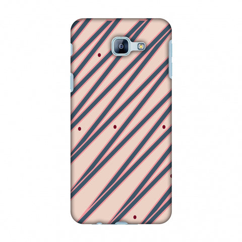 Illusionary Stripes - Steel Grey And Baby Pink Slim Hard Shell Case For Samsung Galaxy A8 2016