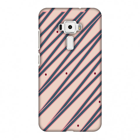 Illusionary Stripes - Steel Grey And Baby Pink Slim Hard Shell Case For Asus Zenfone 3 ZE520KL