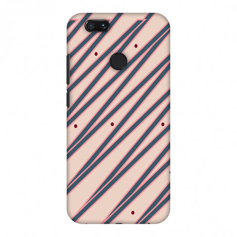 Illusionary Stripes - Steel Grey And Baby Pink Slim Hard Shell Case For Xiaomi MI A1-5X