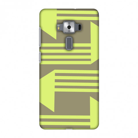 Neon Triangles - Pale Brown Slim Hard Shell Case For Asus Zenfone 3 Deluxe ZS570KL