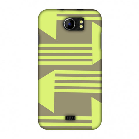 Neon Triangles - Pale Brown Slim Hard Shell Case For Micromax Canvas 2 A110