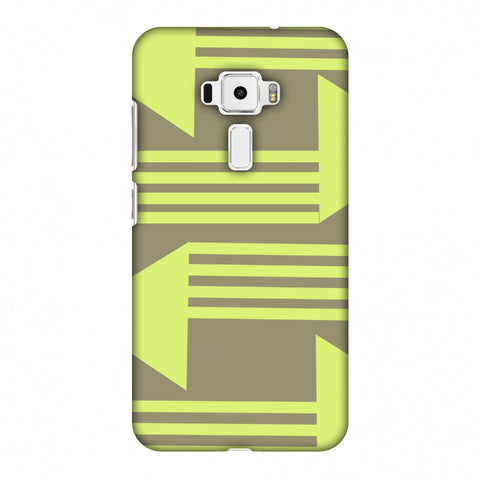 Neon Triangles - Pale Brown Slim Hard Shell Case For Asus Zenfone 3 ZE520KL