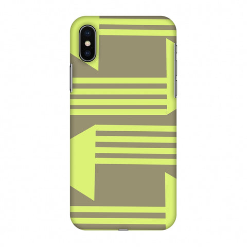 Neon Triangles - Pale Brown Slim Hard Shell Case For Apple iPhone X