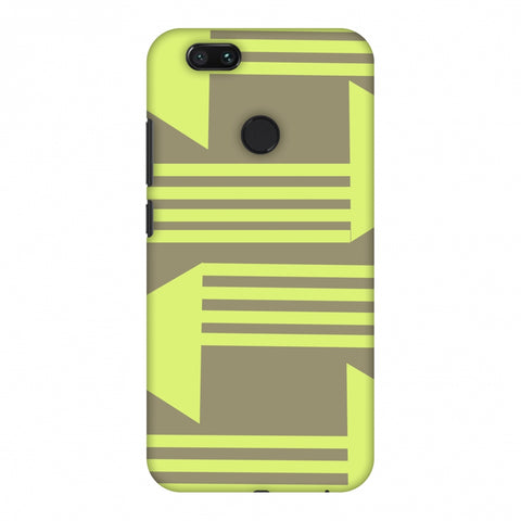 Neon Triangles - Pale Brown Slim Hard Shell Case For Xiaomi MI A1-5X