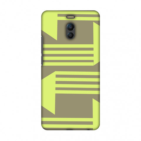 Neon Triangles - Pale Brown Slim Hard Shell Case For Meizu Note 6