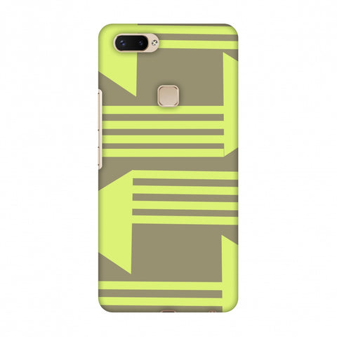 Neon Triangles - Pale Brown Slim Hard Shell Case For Vivo X20 Plus