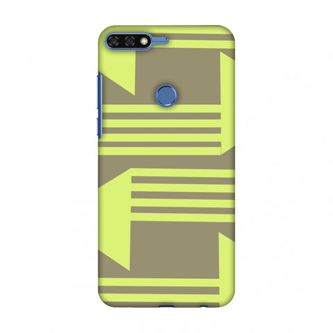 Neon Triangles - Pale Brown Slim Hard Shell Case For Huawei Honor 7C