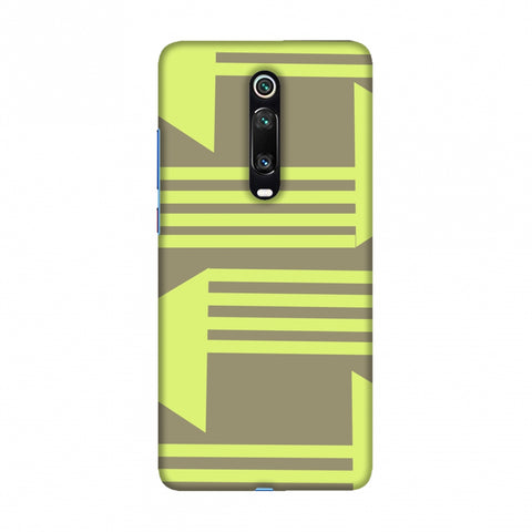 Neon triangles- Pale brown Slim Hard Shell Case For Redmi K20/K20 Pro