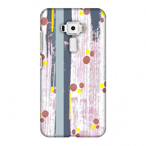 Paint Strokes - Steel Grey Slim Hard Shell Case For Asus Zenfone 3 ZE520KL