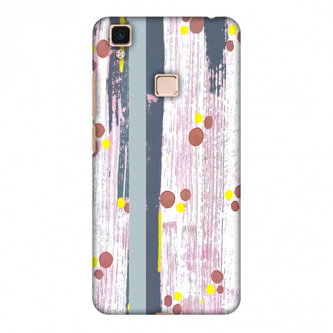 Paint Strokes - Steel Grey Slim Hard Shell Case For Vivo V3 Max