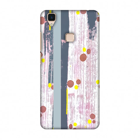 Paint Strokes - Steel Grey Slim Hard Shell Case For Vivo V3