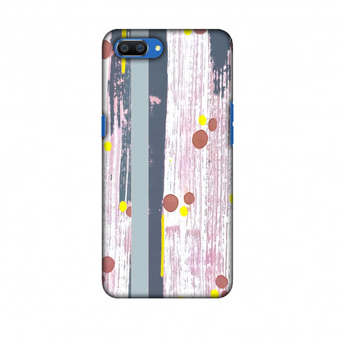 Paint Strokes - Steel Grey Slim Hard Shell Case For Oppo Realme C1