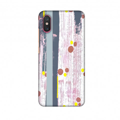 Paint Strokes - Steel Grey Slim Hard Shell Case For Xiaomi Mi 8 Pro