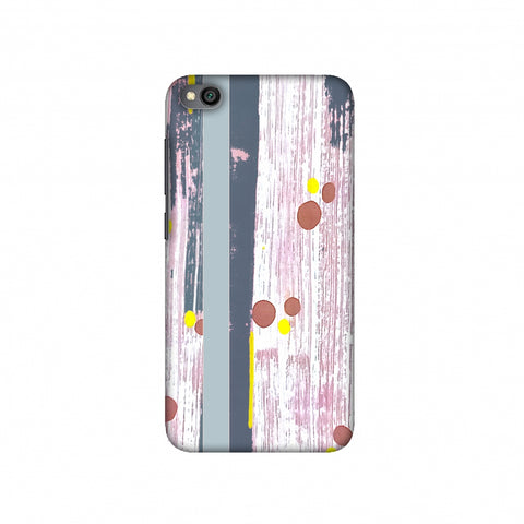 Paint strokes- Steel grey Slim Hard Shell Case For Redmi Go
