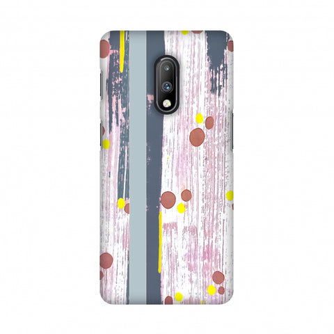 Paint strokes- Steel grey Slim Hard Shell Case For OnePlus 7