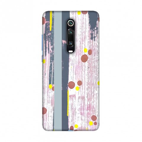Paint strokes- Steel grey Slim Hard Shell Case For Redmi K20/K20 Pro