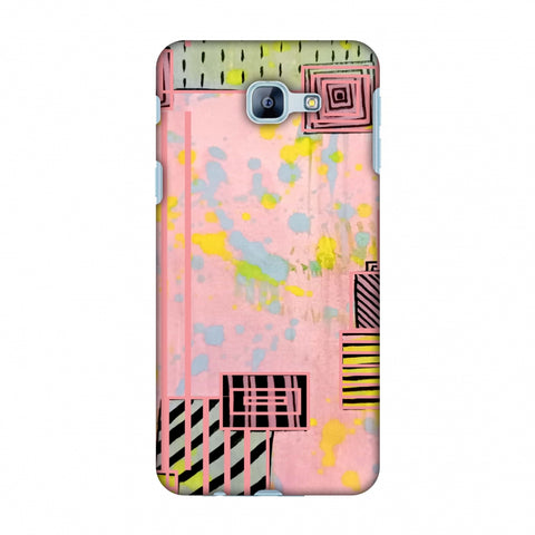 Overall Blocking - Pink Slim Hard Shell Case For Samsung Galaxy A8 2016