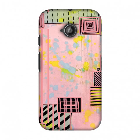Overall Blocking - Pink Slim Hard Shell Case For Motorola Moto E 2nd Gen