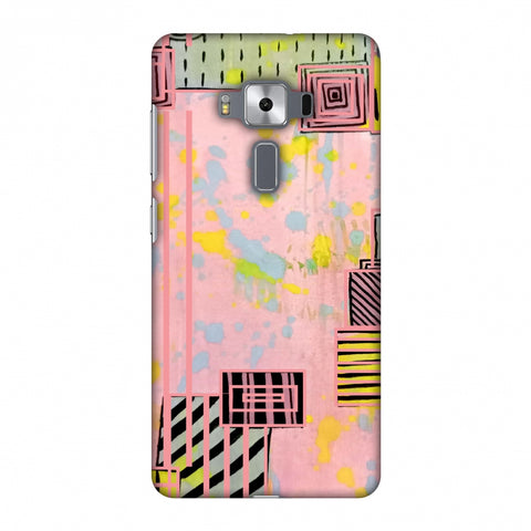 Overall Blocking - Pink Slim Hard Shell Case For Asus Zenfone 3 Deluxe ZS570KL
