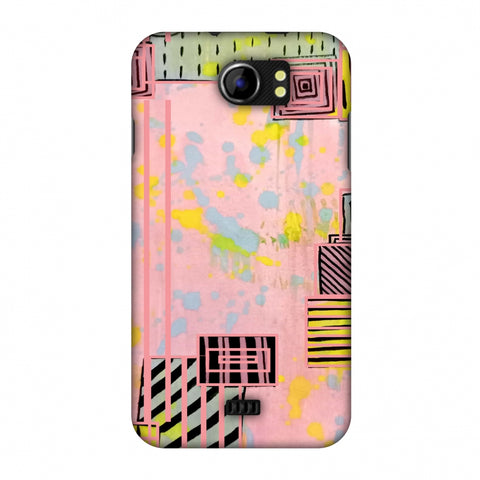 Overall Blocking - Pink Slim Hard Shell Case For Micromax Canvas 2 A110