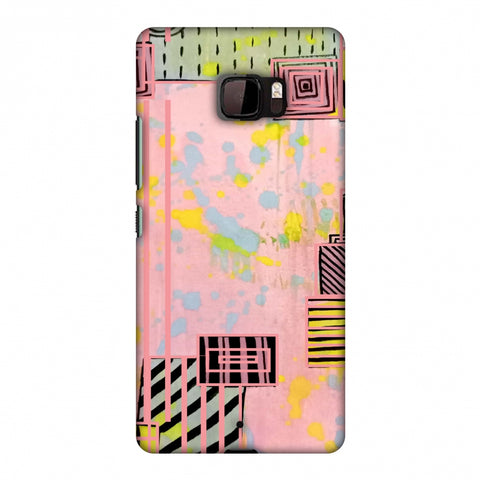 Overall Blocking - Pink Slim Hard Shell Case For HTC U Ultra