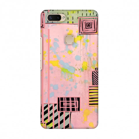 Overall Blocking - Pink Slim Hard Shell Case For Vivo X20 Plus