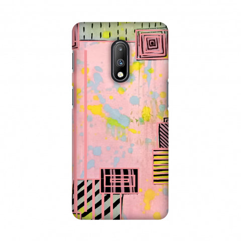 Overall blocking- Pink Slim Hard Shell Case For OnePlus 7