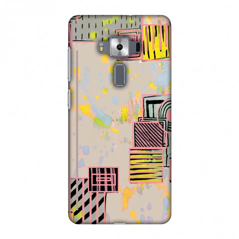 Overall Blocking - Beige Slim Hard Shell Case For Asus Zenfone 3 Deluxe ZS570KL