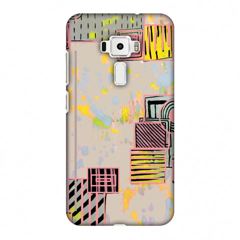 Overall Blocking - Beige Slim Hard Shell Case For Asus Zenfone 3 ZE520KL