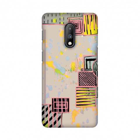 Overall blocking- Beige Slim Hard Shell Case For OnePlus 7