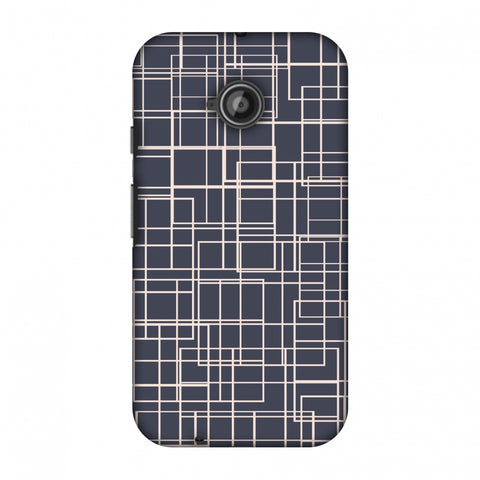 Puzzled Lines - Steel Grey Slim Hard Shell Case For Motorola Moto E 2nd Gen