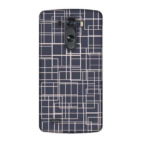 Puzzled Lines - Steel Grey Slim Hard Shell Case For LG G4