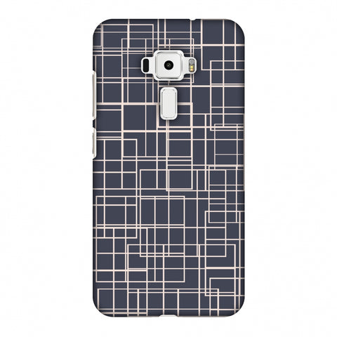 Puzzled Lines - Steel Grey Slim Hard Shell Case For Asus Zenfone 3 ZE520KL