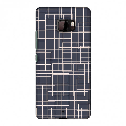 Puzzled Lines - Steel Grey Slim Hard Shell Case For HTC U Ultra