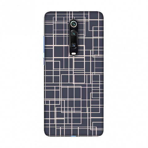 Puzzled lines- Steel grey Slim Hard Shell Case For Redmi K20/K20 Pro