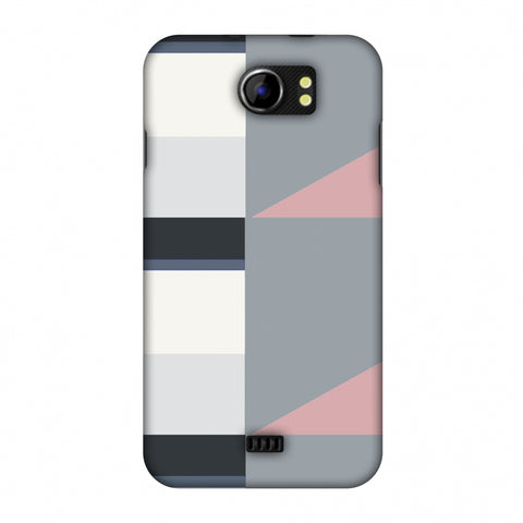 Multi Shapes - Soot Grey Slim Hard Shell Case For Micromax Canvas 2 A110