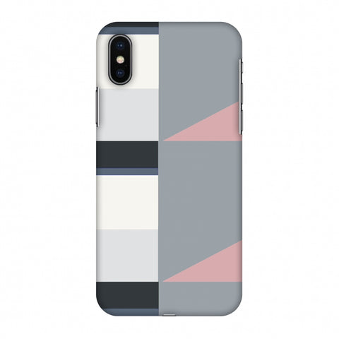 Multi Shapes - Soot Grey Slim Hard Shell Case For Apple iPhone X
