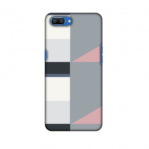 Multi Shapes - Soot Grey Slim Hard Shell Case For Oppo Realme C1