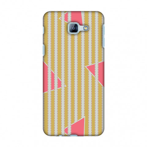 Stripes And Triangles - Mustard And Pink Slim Hard Shell Case For Samsung Galaxy A8 2016